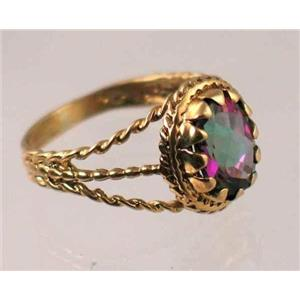 R070, Mystic Fire Topaz, Gold Ring