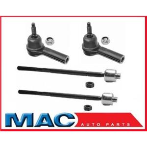 1997-2011 Buick/Cadillac/Oldsmobile/Pontaic Inn & Out Tie Rod Rods Ends 4 Pc