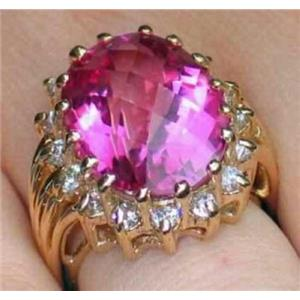 R270, Pure Pink Topaz, Gold Ring