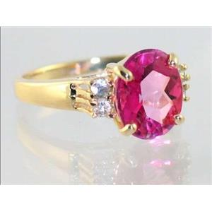 R123, Pure Pink Topaz, Gold Ring