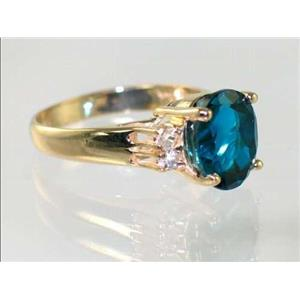 R123, London Blue Topaz, Gold Ring