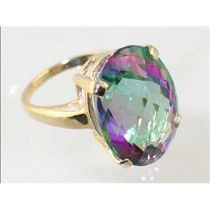 R217, Mystic Fire Topaz, Gold Ring