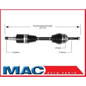 SATURN SC SL SW 1.9L Left New Axle Shaft CV Complete Assembly