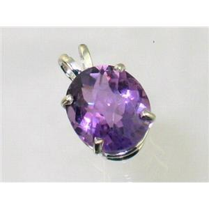 SP040, Amethyst 925 Sterling Silver Pendant