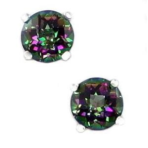 Mystic Fire Topaz, 925 Sterling Silver Earrings, SE012