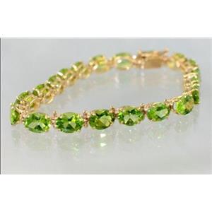 B002, Peridot Gold Bracelet