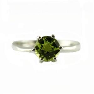 SR311, Peridot, 925 Sterling Silver Ring