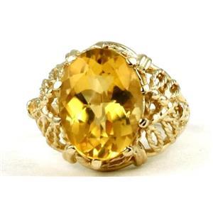 R260, Citrine, Gold Ring