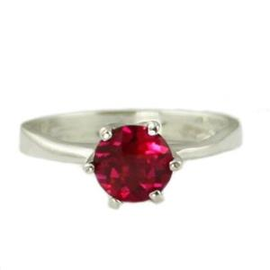 SR311, Created Ruby, 925 Sterling Silver Ring