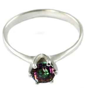 SR311, Mystic Fire Topaz, 925 Sterling Silver Ring