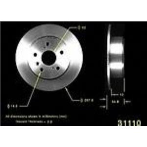 Fits For 99-02 Lexus RX300 Front Wheel Drive Model / 2 REAR BRAKE DISC ROTORS