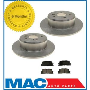 2001-2003 Toyota Highlander 2 Wheel Drive (2) Rear Brake Rotors & Ceramic Pads