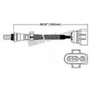 VW AUDI REAR Walker Products 250-24414 Oxygen Sensor