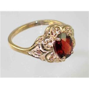 R125, Mozambique Garnet Filigree, Gold Ring