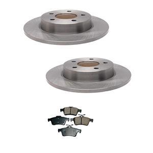 2006-2013 Mazda 3 2.3L 2.5L  Rear Left and Right Brake Rotors & Ceramic Pads
