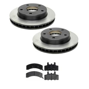 Fit For 94-99 Dodge Ram 1500 4 Wheel Drive (2) Front Brake Rotors & Ceramic Pads