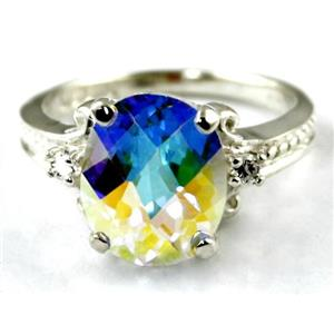 SR136, Mercury Mist Topaz, 925 Sterling Silver Ring