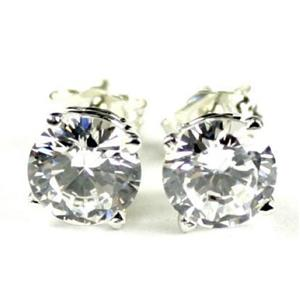 Cubic Zirconia, 925 Sterling Silver Earrings, SE012