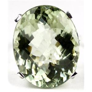 SR129, Green Amethyst, 925 Sterling Silver Ring