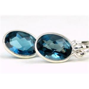 SE001, London Blue Topaz, 925 Sterling Silver Earrings