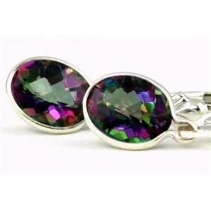SE001, Mystic Fire Topaz, 925 Sterling Silver Earrings