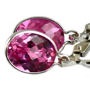 SE001, Pure Pink Topaz, 925 Sterling Silver Earrings