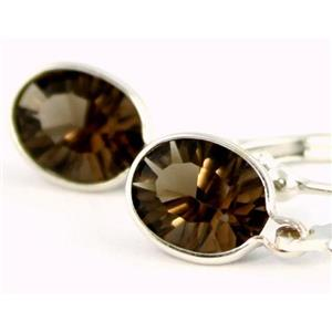 SE001, Smoky Quartz, 925 Sterling Silver Earrings