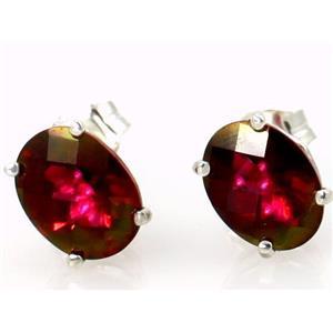 SE002, Crimson Topaz, 925 Sterling Silver Earrings