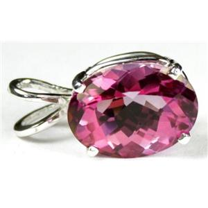 SP004, Pure Pink Topaz, 925 Sterling Silver Pendant