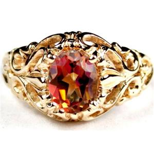 R113, Twilight Fire Topaz, Gold Ring
