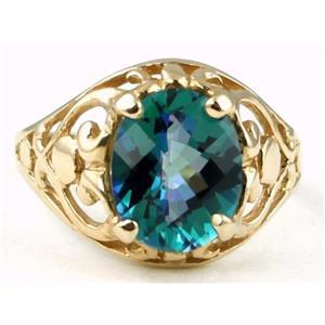 R004, Neptune Garden Topaz, Gold Ring