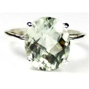 Green Amethyst, 925 Sterling Silver Ring, SR055