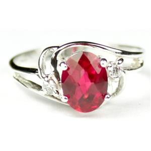 SR176, Created Ruby, 925 Sterling Silver Ring