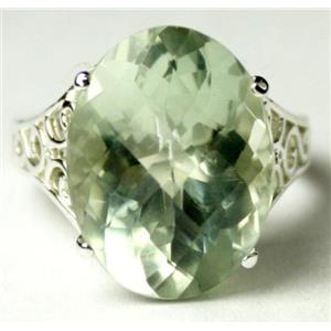 SR049, Green Amethyst, 925 Sterling Silver Ring