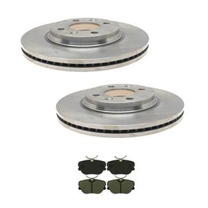 90-93 Saab 900 87-89 9000 Frt Brake Rotors & Pads (2) 3466 (1) MD439