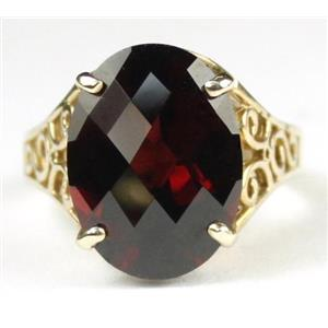 R049, Mozambique Garnet, Gold Ring