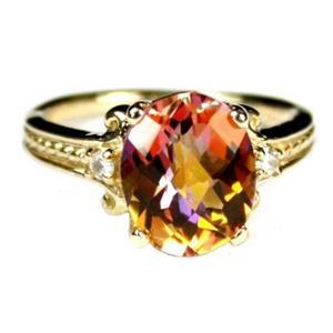 R136, Twilight Fire Topaz, 10K Gold Ring