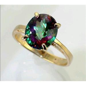 R055, Mystic Fire Topaz, Gold Ring