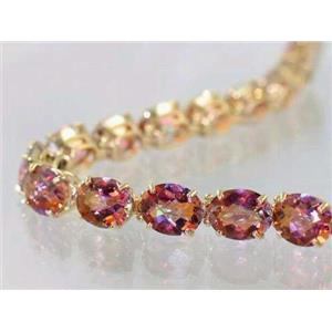 B003, Twilight Fire Topaz Gold Bracelet