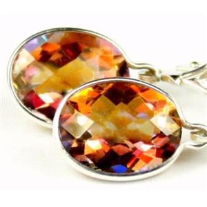 SE101, Twilight Fire Topaz 925 Sterling Silver Earrings