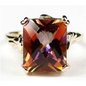 R188, Twilight Fire Topaz, Gold Ring