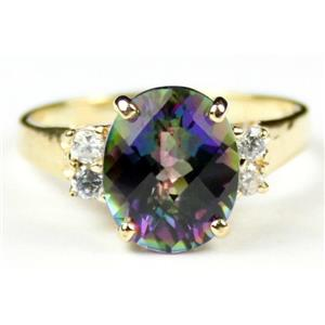 R244, Mystic Fire Topaz, Gold Ring
