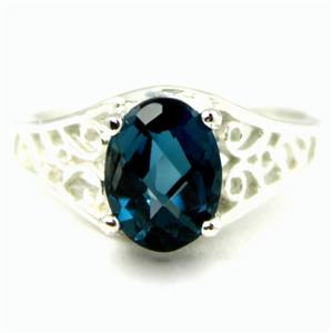 London Blue Topaz, 925 Sterling Silver Ring, SR005