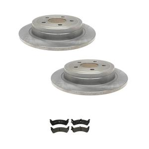 Explorer Sport 2Dr Sport Trac 2 Rr Brake Rotors & Ceramic Pads (2) 54114 CD667