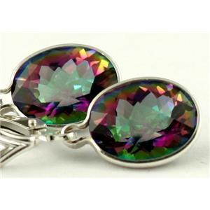 SE101, Mystic Fire Topaz, 925 Sterling Silver Earrings