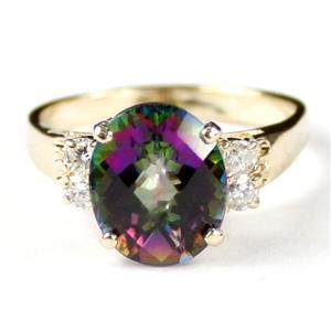 R123, Mystic Fire Topaz, Gold Ring