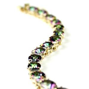 B002 Mystic Fire Topaz Gold Bracelet