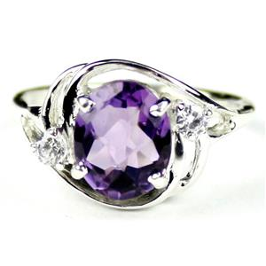 SR021, Amethyst, 925 Sterling Silver Ring