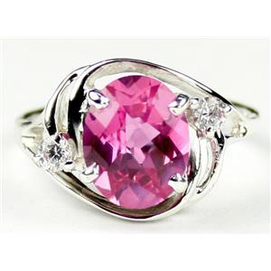 SR021, Pure Pink Topaz, 925 Sterling Silver Ring