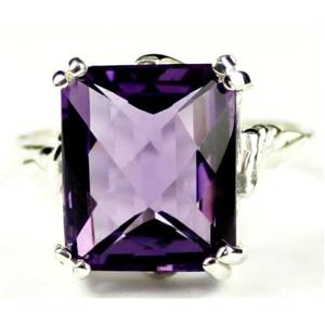 SR188, Amethyst, 925 Sterling Silver Ring